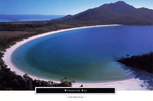 Postcards - Wineglass Bay, Tasmania