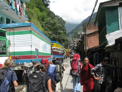 Crossing Nepal Tibet Border