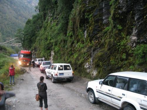 Tibet Tour - Land Slide