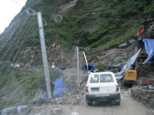Tibet Tour - Land Slide