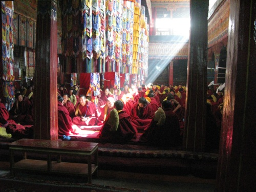 Tibet Tour - Monks Praying