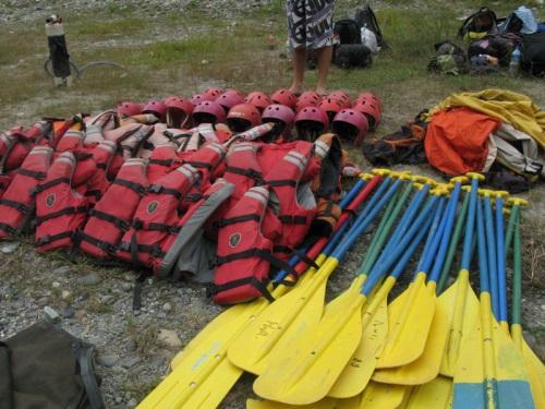 Nepal - Kali Gandaki Rafting Tour Equipment