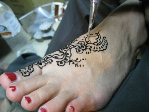 India Foot Henna