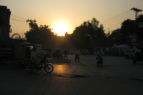 Streets of Lahore, Pakistan Sunset