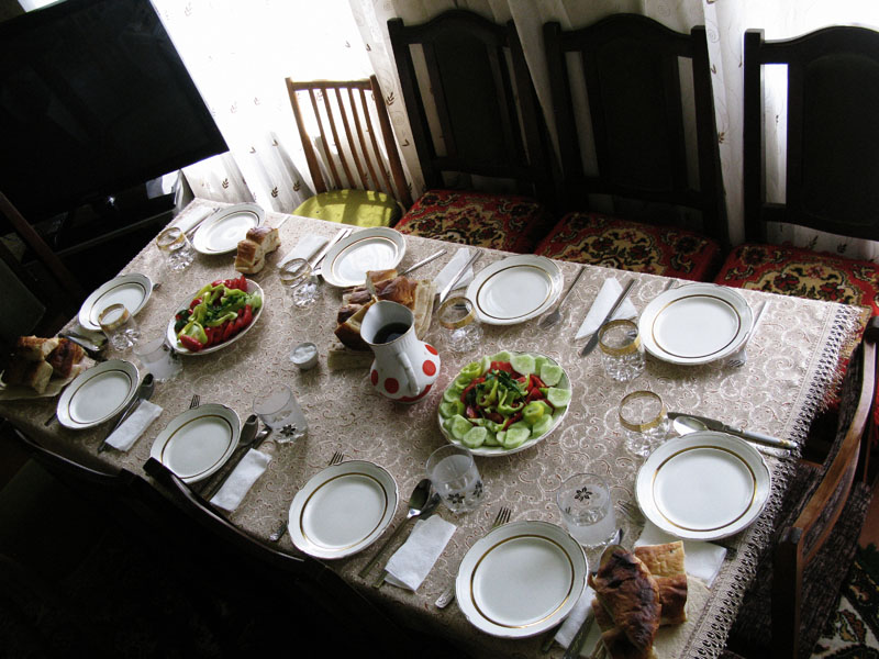 Armenia Uncovered Leave Me Here: simple table setting for lunch